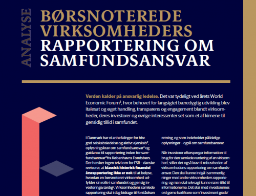 ESG Insight: New analysis of the Danish ESG reporting